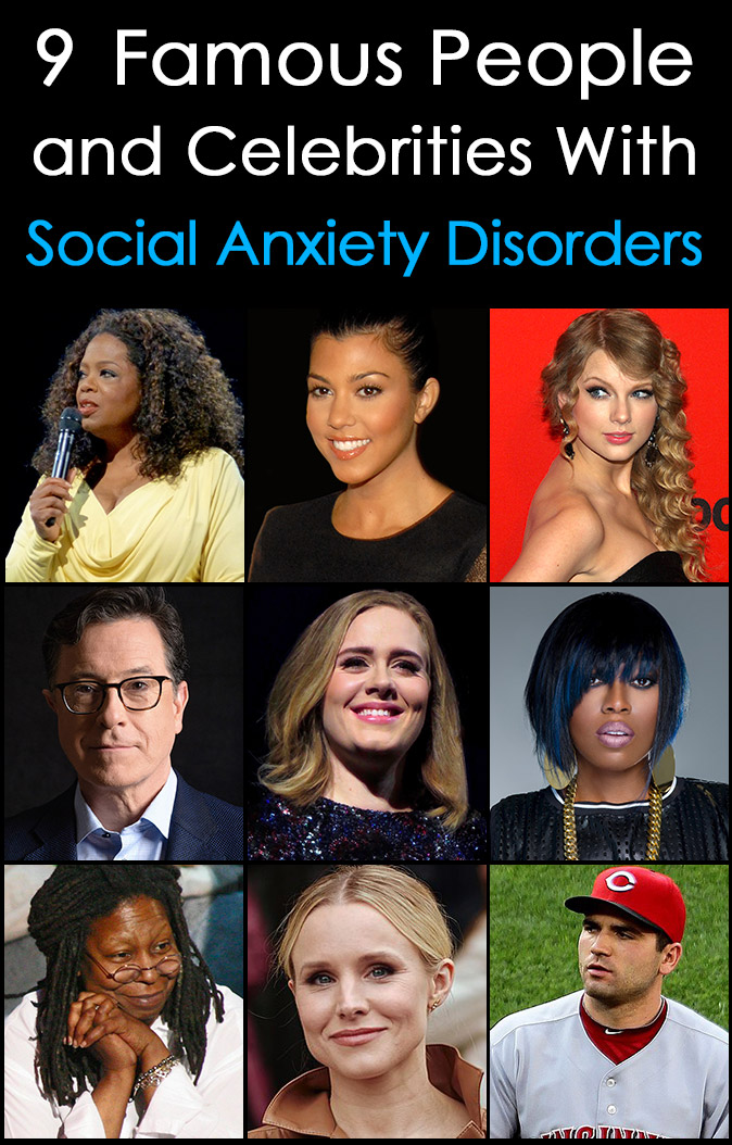 famous people celebrities with social anxiety disorder